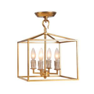 Cape Antique Gold Leaf Four-Light Lantern Pendant
