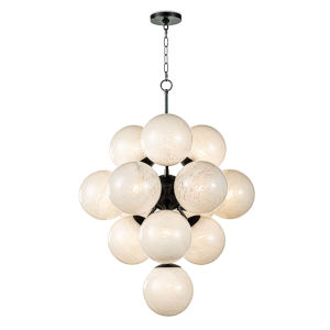 La Dame Oil Rubbed Bronze 13-Light 28-Inch Chandelier