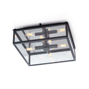Ritz Oil Rubbed Bronze Four-Light Flush Mount