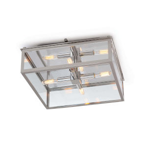 Ritz Polished Nickel Four-Light Flush Mount