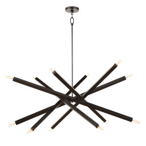 Viper Oil Rubbed Bronze 12-Light Chandelier