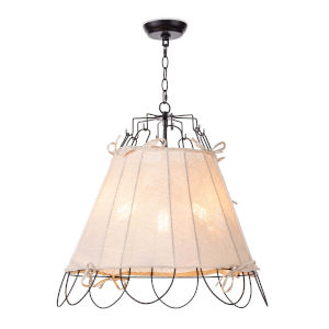 Birdie Black One-Light 25-Inch Pendant
