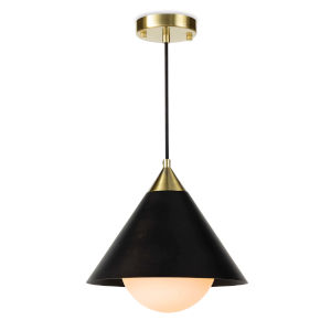 Hilton Blackened Brass and Natural BrassOne-Light Pendant