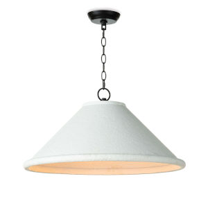 Billie White Three-Light 25-Inch Pendant
