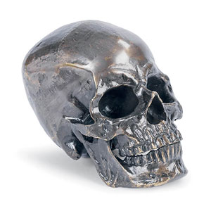 Live From Detroit Bronze Metal Skull