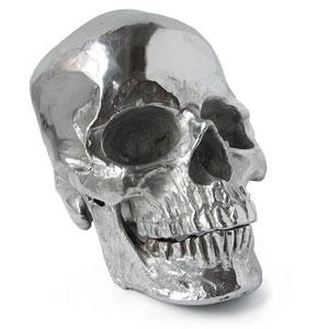 Live From Detroit Polished Nickel Metal Skull