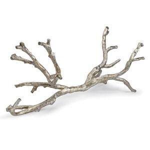 LA Modern Ambered Silver Leaf Metal Branch