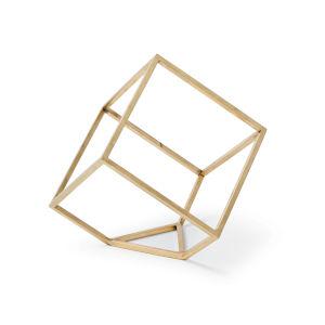 Brass Open Standing Cube