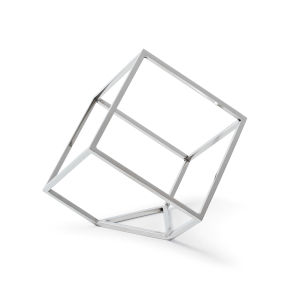 Polished Nickel Open Standing Cube