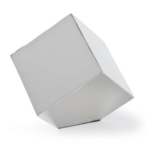 Modern Glamour Polished Nickel Closed Standing Cube
