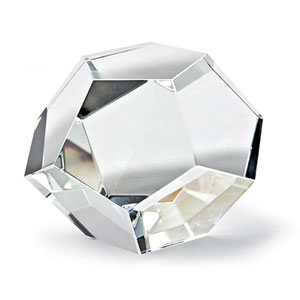 Modern Glamour Clear Crystal Dodecahedron