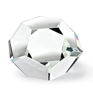 Modern Glamour Clear Seven-Inch Crystal Dodecahedron