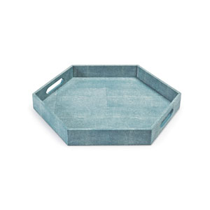 Modern Glamour Turquoise 20-Inch Tray