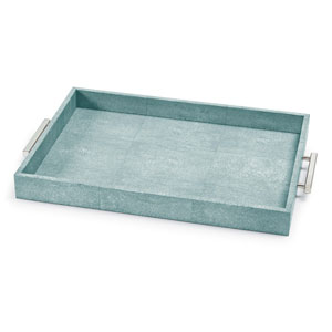 Modern Glamour Turquoise 14-Inch Tray