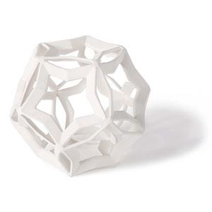 East End White Eight-Inch Geometric Star