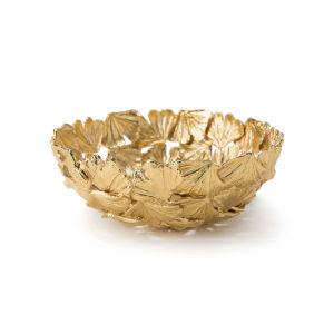Ginkgo Gold Decorative Bowl, Small