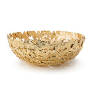 Ginkgo Gold Decorative Bowl, Large