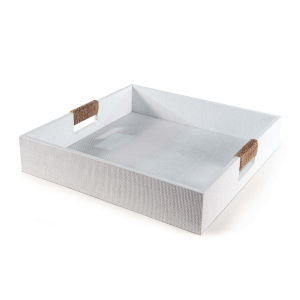 Logia White Square Serving Tray