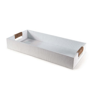 Logia White Rectangle Serving Tray