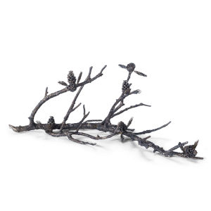 Pine Bough Black Sculpture