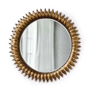 Classics Gold Leaf Sun Flower 30-Inch Mirror