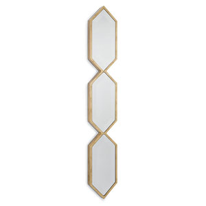 Classics Gold Leaf Triple Diamond Panel Mirror
