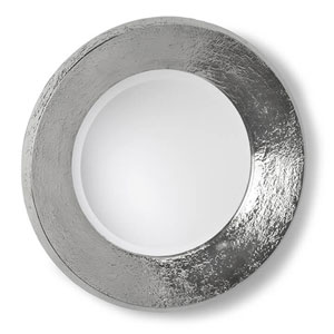 Modern Glamour Brushed Nickel Concave 24-Inch Mirror