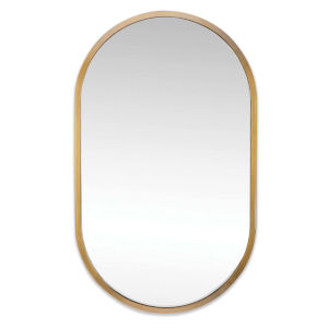 Canal Natural Brass Wall Mirror