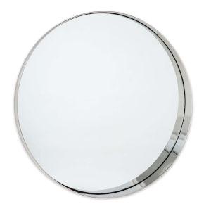 Gunner Polished Nickel Round Wall Mirror