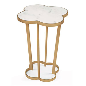 Modern Glamour Natural Brass Accent Table