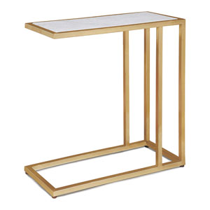 Modern Glamour Natural Brass Side Table