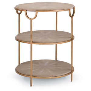 Vogue Shagreen Brass Side Table