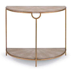 Vogue Shagreen Ivory Console