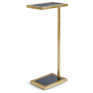 Classics Gold Leaf and Black Side Table