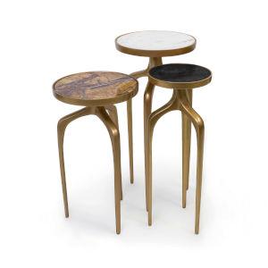 Natural Brass Mixer Tables Set