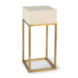 Sawyer Natural Brass Side Table