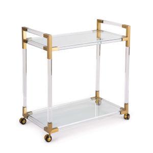 Americano Natural Brass Bar Cart