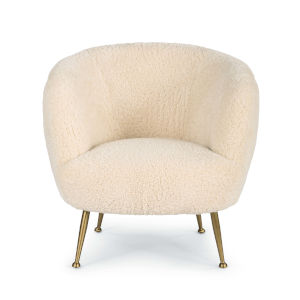 Beretta White Sheepskin Chair
