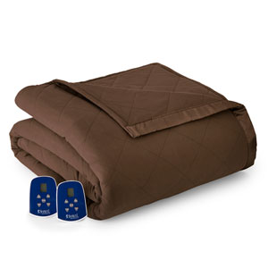 Chocolate Full Micro Flannel Electric Blanket