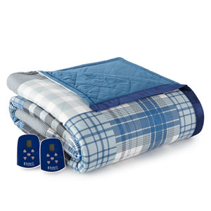 Smokey Mt. Plaid Full Micro Flannel Electric Blanket