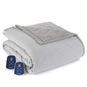 Greystone Twin Micro Flannel Reverse to Sherpa Electric Blanket