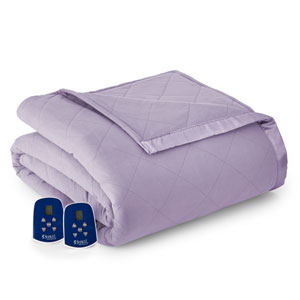Amethyst Twin Micro Flannel Electric Blanket
