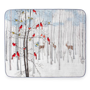 Forest Friends 60 x 80 In. Hi Pile Luxury Throw