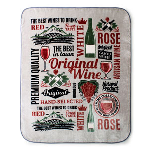 Wine 60 x 80 In. Hi Pile Luxury Throw