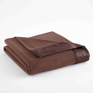 Chocolate Full/Queen Micro Flannel Lightweight All Seasons Sheet Blanket