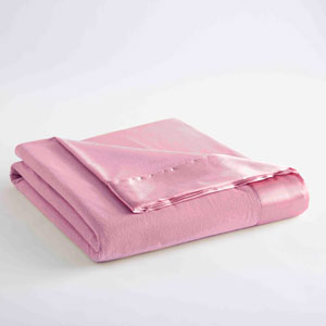 Frosted Rose Full/Queen Micro Flannel Lightweight All Seasons Sheet Blanket