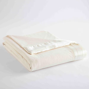 Ivory Full/Queen Micro Flannel Lightweight All Seasons Sheet Blanket