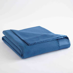 Smokey Mt. Blue Full/Queen Micro Flannel Lightweight All Seasons Sheet Blanket
