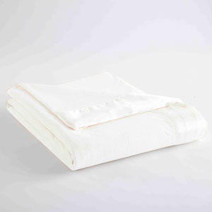 White Full/Queen Micro Flannel Lightweight All Seasons Sheet Blanket