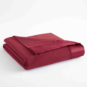 Wine Full/Queen Micro Flannel Lightweight All Seasons Sheet Blanket